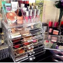 Porta Maquiagem Organizador Gaveteiro Acrílico Gaveta Maleta