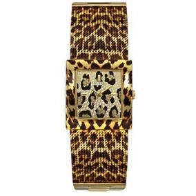 Relógio Feminino Guess Onça Pulseira Esteirinha 92517lpgtda1