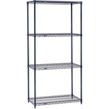 Nexel 24547n Wire Starter Shelving Unit With 4 Shelves, 54