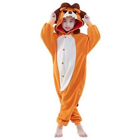 75d4cf8172 wotogold Pijamas de León Animal Trajes de Cosplay Adultos Unisex ...