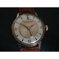 Relógio Lanco Fon Despertador Alarme Plaquê Ouro Antigo