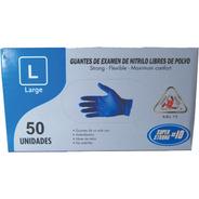Guantes Desechables Nitrilo Azul Hd 10 Mm Caja X 50 Unidades