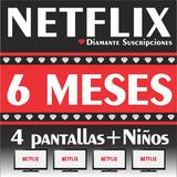 Cuente Netflix 4 Pantalllas Hd 4k 6ms | Diamante®