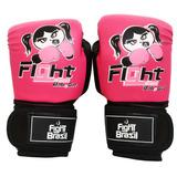 Luva Muay Thai Boxe Infantil Feminina Rosa 4 Oz Frete Barato