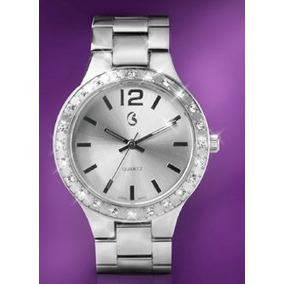 Reloj Mujer Esika Finart Plata Con Cristales Swaroski Nuevo!