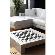 Adesivo Decorativo Tabuleiro Jogo De Xadrez 50x50cm