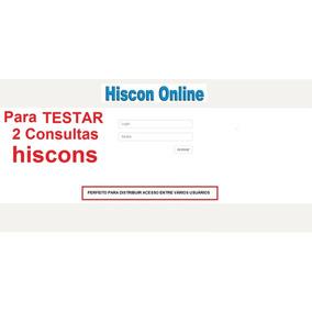3 Consultas - Para Testar - Hiscon On-line (promoção)