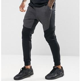 8f5e1beae Calça Nike Sportswear Tech Fleece Cinza E Preto Masculina