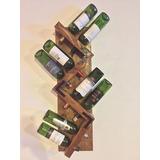 Mueble Para Vinos Zig Zag! Capacidad 8 Vinos Rústicas!