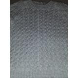 Sweater Bebé De Lana Blanco Tejido A Mano. Nuevo