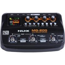 Mg-200 Nux Procesador Pedalera Multiefectos Para Guitarra