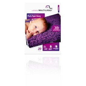 Photo Paper Multilaser Glossy 200 Gr Tam. C/20 Mania Virtual