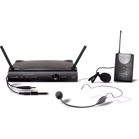 Microfone Sem Fio Prof Uhf Headset Auricular Lapela Lyco