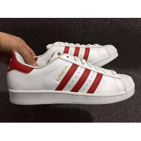 tenis adidas rojos con blanco