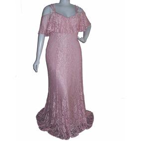 Vestido Longo Rosa - Casamento Madrinha - Mk 01