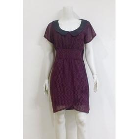 Vestido Sarah Bustani Vino Negro Original + Envío Gratis