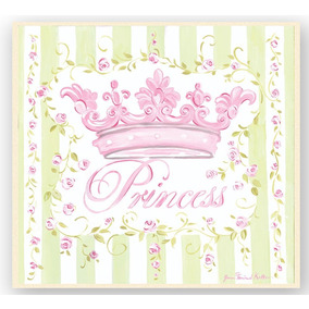 The Kids Room By Stupell Pink Crown With Green And White St