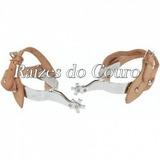 Espora Rodeio Boi Longa - Niquelada Rc2307 - Oferta!