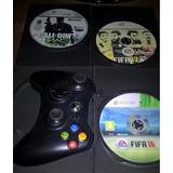 Control Xbox 360 - 3 Juegos Copia
