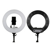 Kit Iluminador Led Ring Light Com Tripé Rl18 Bicolor