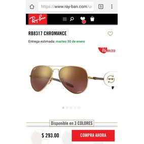 Ray-ban Rb8317ch Gafas Aviador Espejados Oro Polarizados New