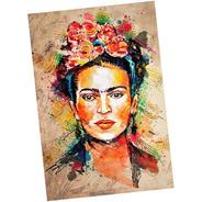 Placa - Quadro - Decorativo - Frida Kahlo - (v315)