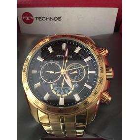 Relógio Masculino Technos Performance Ts Carbon Dourado