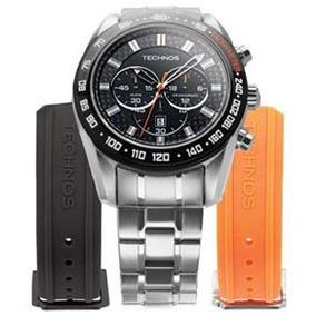 b1c09c0e2d863 1p Esportivo Technos Skydiver Chronograph Masculino A%c3%a7o Prata ...