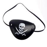 Parche Pirata De Plástico (halloween, Disfraces, Cotillón)
