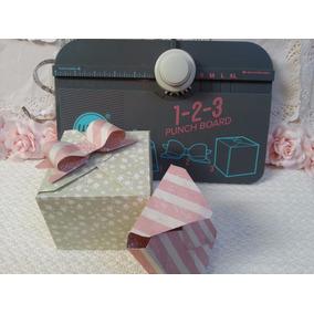 Tabla 123 Punch Board Cajas Moños Papel Cartulina Scrapbook
