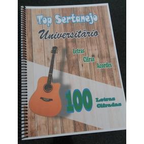 Caderno De Músicas Sertaneja Cifradas P/ Violão Frete Gratis