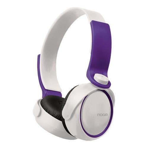 Auriculares Noga NG-904 blanco y violeta