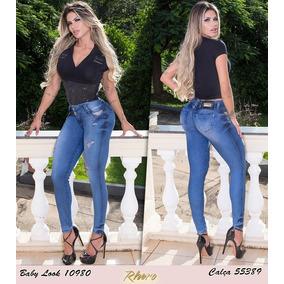 Calça Cigarrete Rhero Jeans Com Bojo Est Pit Bull Cod 55389