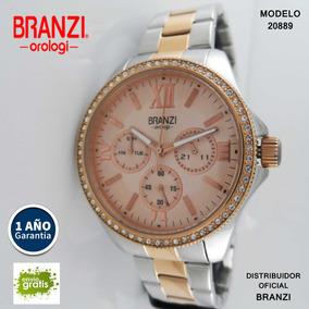 Reloj Branzi 20889 Acero En 2 Tonos Para Dama --kairos--