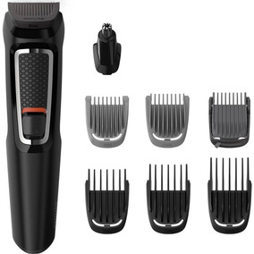 Kit Philips Barbeador Aparador 8pçs Prova Dagua Mg3731/15