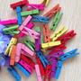 Mini Broches De Color O Madera X 50 U / Souvenir Cumpleaños