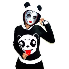 Chaqueta Panda Buso Panda Punk Rock Fashion Hoodie Cosplay