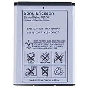 Pila Bateria Sony Ericsson Bst-36 Bst36 K510 T270 W200 K3