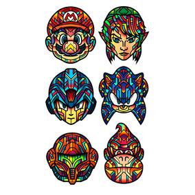 Arte Psicodelica Decorativa Games Antigos Mario Sonic Zelda