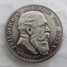 Moeda Antiga 1907 Estados Alemão Idêntica A Original Frete G