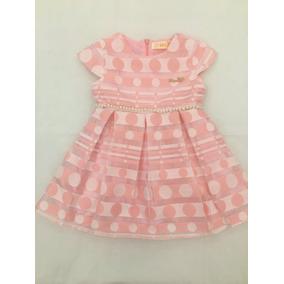 Vestido De Bolinha Com Perola Infantil 1-3 Anos Verao