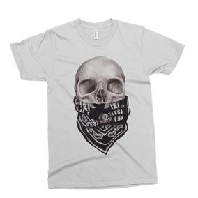 Remera Rebel Skull Tattoo Alternative Drop Dead Abandon Shi