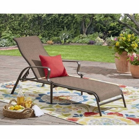 Camastro Silla De Descanso Para Patio Jardin Reclinable Cafe