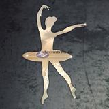 Kit 3 Bailarinas Em Espelho Decorativo   Quarto Menina