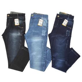 Calça Jeans Juvenil Masculina   Kit Com 3 Unidades   Oferta