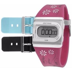 Relógio Mormaii Digital Kit Troca Pulseira Fzaq/8k