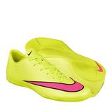 Tenis Para Fut 7 Nike Para Hombre Simipiel Amarillo Con Rosa