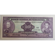 Billete Venezuela 10 Bs Junio 5 1995 Q8 Unc
