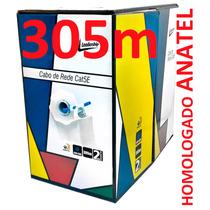 Cabo De Rede Cat5e Azul Caixa 305m Par Trançado Leadership