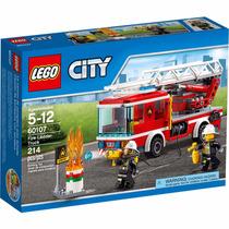 Kit 3 Lego City 60107 Caminhão Com Escada De Combate Ao Fogo